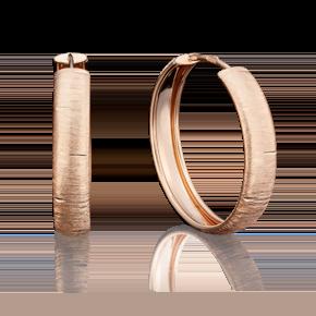 Серьги-конго из красного золота 02-3774-00-000-1110-19