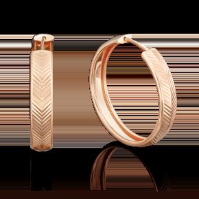Серьги-конго из красного золота 02-3775-00-000-1110-19