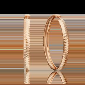 Серьги-конго из красного золота 02-3776-00-000-1110-19
