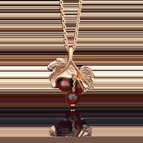 Подвеска из красного золота с янтарём 03-2706-00-271-1110-46