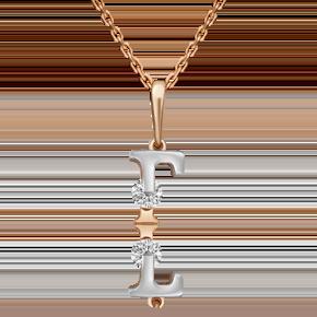 Подвеска из комбинированного золота с фианитом огр.SW 03-3119-Г-501-1111-38