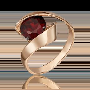 Кольцо из красного золота с гранатом 01-5430-00-204-1110-46
