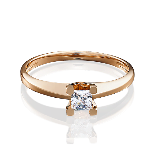 Помолвочное кольцо из красного золота 01-4978-00-401-1110-03