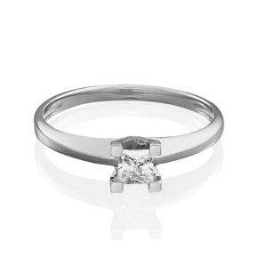 Помолвочное кольцо из белого золота с фианитом 01-4978-00-401-1120-03