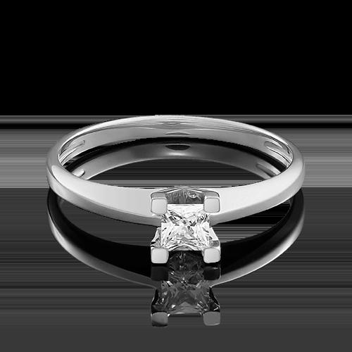 Помолвочное кольцо из белого золота с бриллиантом 01-4978-00-101-1120-30