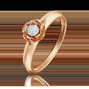 Кольцо из красного золота с бриллиантом 01-4982-00-101-1110-30
