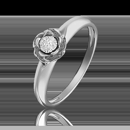 Кольцо из белого золота с бриллиантом 01-4982-00-101-1120-30