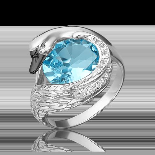 Кольцо из белого золота с топазом 01-5464-00-201-1120-46