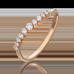 Кольцо из красного золота с бриллиантом 01-1080-00-101-1110-30