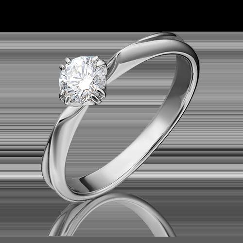 Кольцо из белого золота с бриллиантом 01-0943-00-101-1120-30
