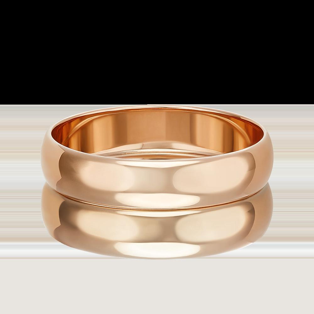 Обручальное кольцо из красного золота 01-3923-00-000-1110-11