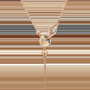 Колье из комбинированного золота с топазом white 07-0246-00-201-1111