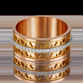 Обручальное кольцо из комбинированного золота с фианитом 01-4789-00-401-1140-50