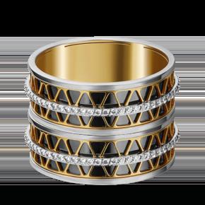 Обручальное кольцо из лимонного золота с фианитом 01-4789-00-401-1121-50