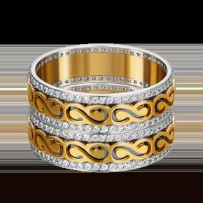 Обручальное кольцо из лимонного золота с фианитом 01-4791-00-401-1121-50