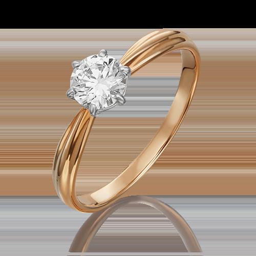 Кольцо из комбинированного золота с бриллиантом 01-0724-00-101-1111-30