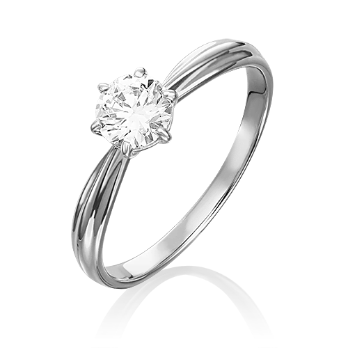 Кольцо из белого золота бриллиантом 01-0725-00-101-1120-30