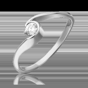 Кольцо из белого золота с бриллиантом 01-0729-00-101-1120-30