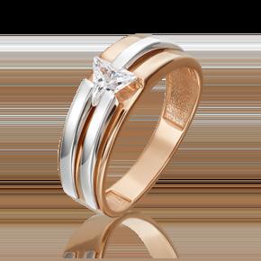 Кольцо из комбинированного золота с фианитом 01-5437-00-401-1111-03