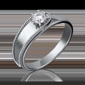 Кольцо из белого золота с бриллиантом 01-5206-00-101-1120-30