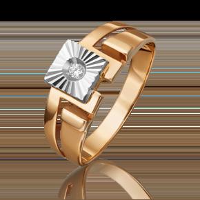 Печатка из комбинированного золота с фианитом 01-1141-00-401-1111-05