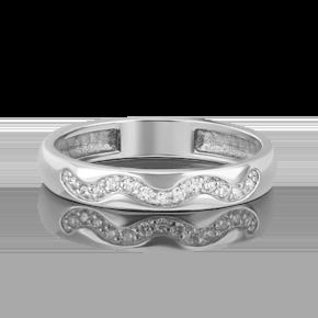 Обручальное кольцо из платины с бриллиантом 01-1529-00-101-2100-30