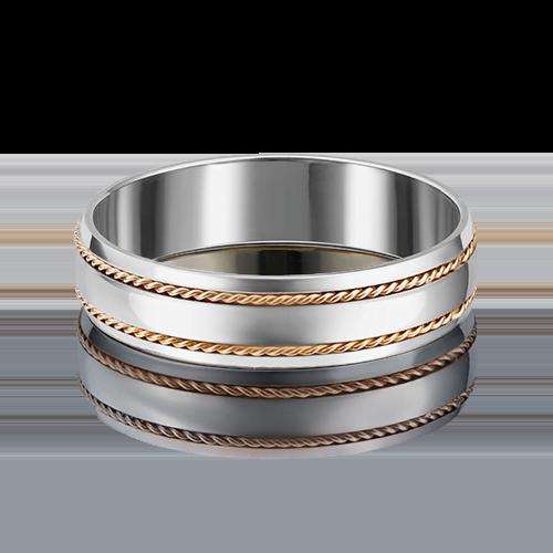 Обручальное кольцо из комбинированного золота 01-5246-01-000-1111-39