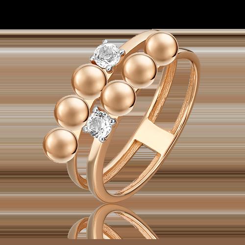 Кольцо из красного золота с топазом white 01-5514-00-201-1110