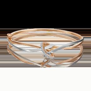 Браслет жесткий из комбинированного золота с фианитом 05-0625-00-401-1111-03
