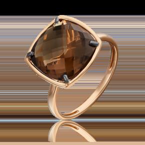 Кольцо из красного золота с кварцем дымчатым 01-5313-00-202-1110-46