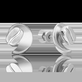 Серьги-пусеты из белого золота 02-4917-00-000-1120