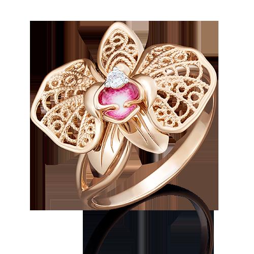 Кольцо из красного золота 01-5039-00-401-1110-48