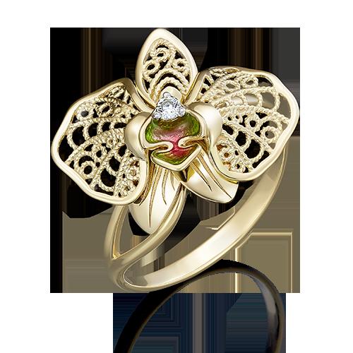 Кольцо из лимонного золота 01-5039-00-401-1130-48
