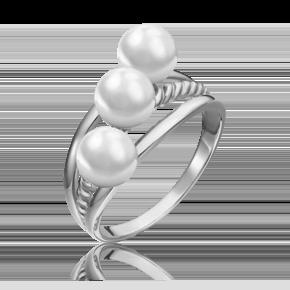 Кольцо из белого золота с жемчугом культивированным 01-5331-00-301-1120-31