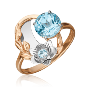 Кольцо из комбинированного золота с топазом 01-5466-00-201-1111-76