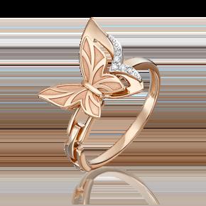 Кольцо из комбинированного золота с бриллиантом 01-5501-00-101-1111