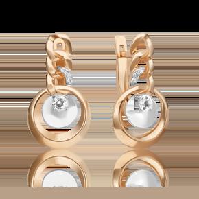Серьги из комбинированного золота с топазом white 02-4832-00-201-1111