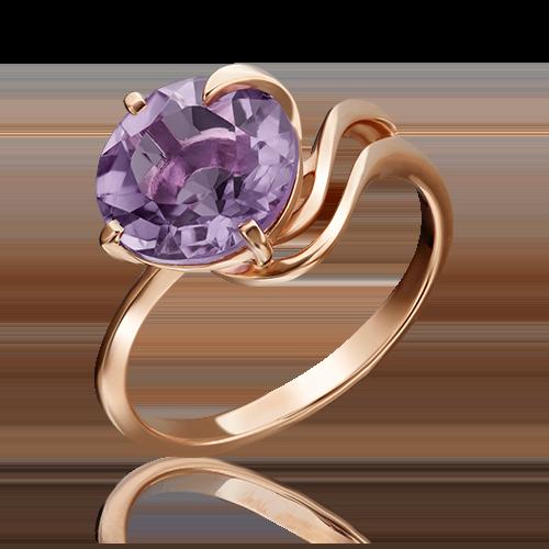 Кольцо из красного золота аметистом 01-2440-00-203-1110-46