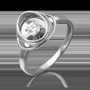 Кольцо из белого золота с бриллиантом 01-5242-00-101-1120-30