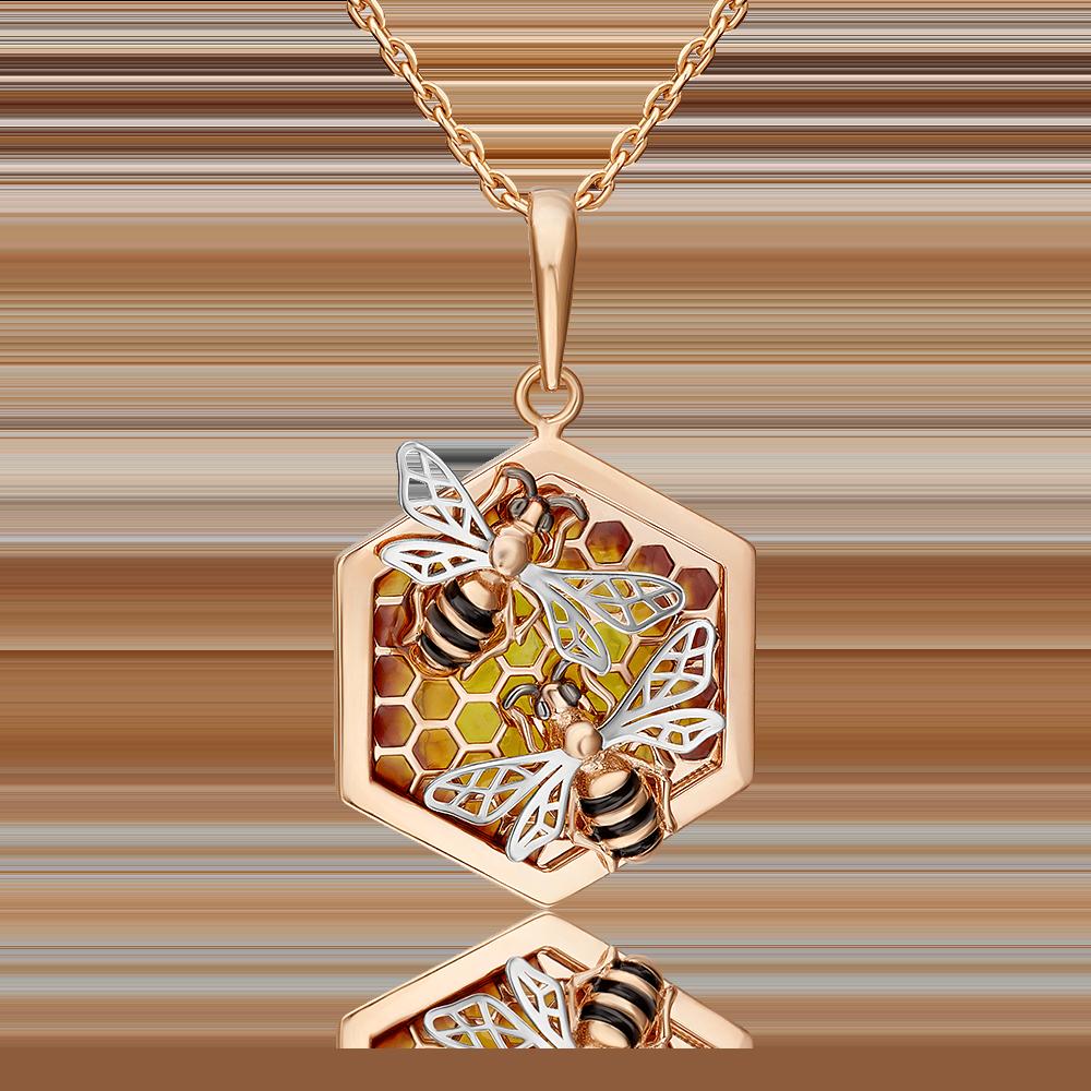 Подвеска из комбинированного золота с эмалью 03-2641-00-000-1111-48