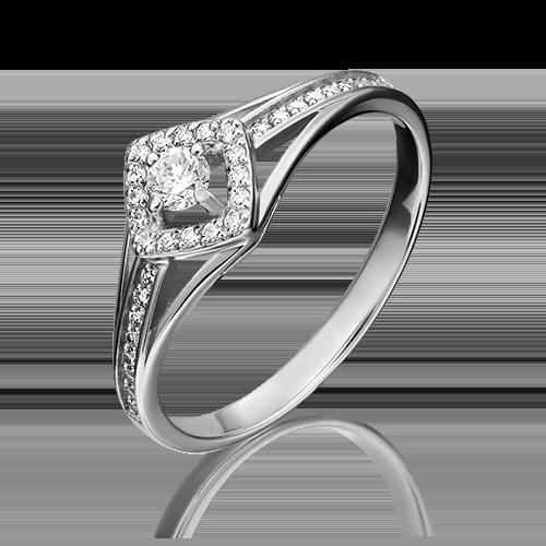 Кольцо из белого золота с бриллиантом 01-1517-00-101-1120-30