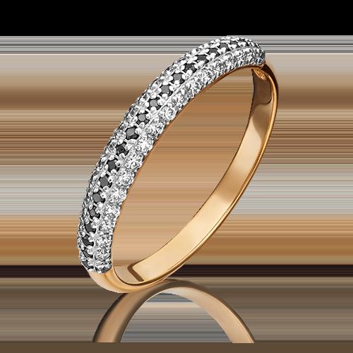 Кольцо из красного золота с бриллиантом 01-1479-00-108-1110-30