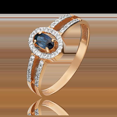 Кольцо из красного золота 01-1480-00-105-1110-30