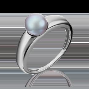 Кольцо из белого золота с жемчугом культивированным 01-5284-00-301-1120-31