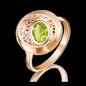 Кольцо из красного золота с хризолитом 01-5091-00-205-1110-57