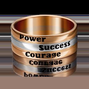 Обручальное кольцо из комбинированного золота с эмалью 01-4922-00-000-1111-39