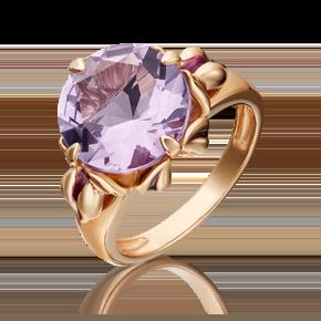 Кольцо из красного золота с аметистом и эмалью 01-5407-00-203-1110-46