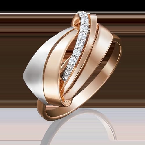Кольцо из комбинированного золота фианитом 01-5049-00-401-1111-03