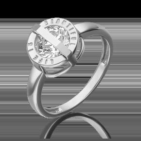 Кольцо из белого золота с фианитом огр.SW 01-5379-00-501-1120-38