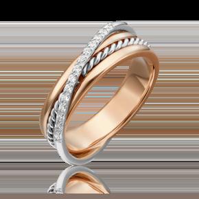 Кольцо из комбинированного золота с бриллиантом 01-5270-00-101-1111-30